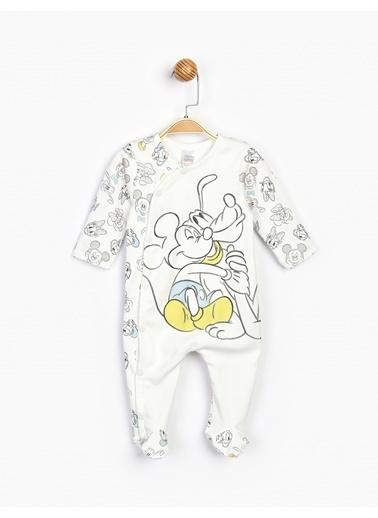 Mickey Mouse  Bebek Tulum 16189 Beyaz